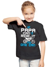 IF PAPA CAN'T RIDE IT Youth T-Shirt lifestyle-youth-tshirt-front-2