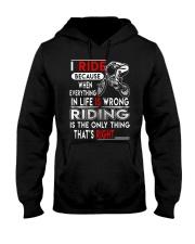 BMX TSHIRT - RIDE IS RIGHT Hooded Sweatshirt thumbnail