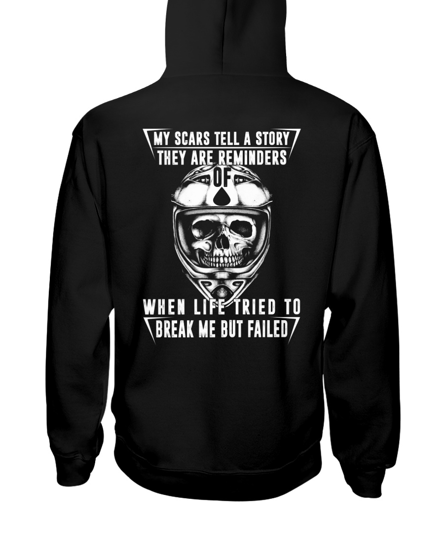 My Scars Tell A Story Hooded Sweatshirt