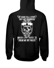 My Scars Tell A Story Hooded Sweatshirt back