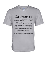 Don't Bother me V-Neck T-Shirt thumbnail