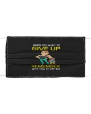 DO NOT GIVE UP MOTIVATION Cloth face mask thumbnail