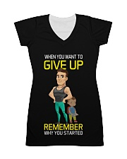 DO NOT GIVE UP MOTIVATION All-over Dress thumbnail