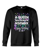 A Queen Was Born In November Crewneck Sweatshirt thumbnail