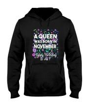 A Queen Was Born In November Hooded Sweatshirt thumbnail