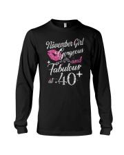 November Girl Gorgeous And Fabulous Long Sleeve Tee thumbnail