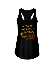 A Queen Was Born In February Ladies Flowy Tank thumbnail