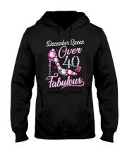 December Queen Over 40 Fabulous Hooded Sweatshirt thumbnail