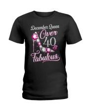 December Queen Over 40 Fabulous Ladies T-Shirt thumbnail
