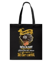 Cancer Girl - Hated By Many Tote Bag thumbnail