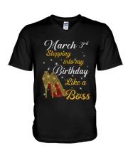 March 3rd V-Neck T-Shirt thumbnail