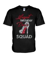 August Birthday Diva's Squad V-Neck T-Shirt thumbnail