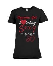 Aquarius Girl Sexy And Over 30 Premium Fit Ladies Tee thumbnail