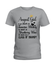 August Girl As A Glass Of Brandy Ladies T-Shirt thumbnail