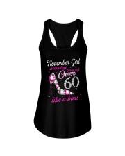 November Girl Over 60 Like A Boss Ladies Flowy Tank thumbnail