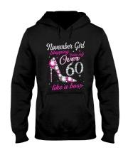 November Girl Over 60 Like A Boss Hooded Sweatshirt thumbnail