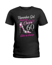 November Girl Over 60 Like A Boss Ladies T-Shirt thumbnail