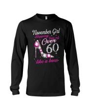 November Girl Over 60 Like A Boss Long Sleeve Tee thumbnail