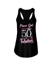 Pisces Girl Fabulous And Over 50 Ladies Flowy Tank thumbnail