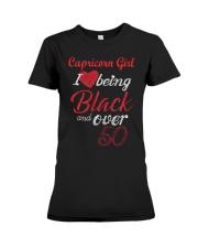 Capricorn Girl Black And Over 50 Premium Fit Ladies Tee thumbnail