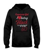 Capricorn Girl Black And Over 50 Hooded Sweatshirt thumbnail