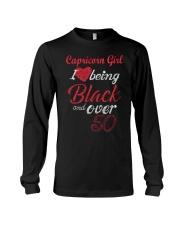 Capricorn Girl Black And Over 50 Long Sleeve Tee thumbnail