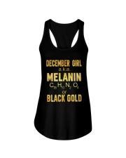 December Girl Black Gold Ladies Flowy Tank thumbnail