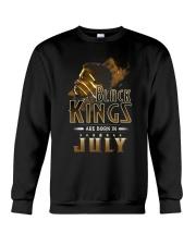 Black Kings Are Born In July Crewneck Sweatshirt thumbnail
