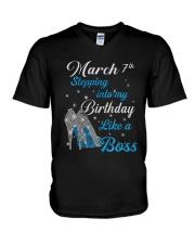 March 7th V-Neck T-Shirt thumbnail