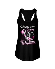 February Queen Over 40 Fabulous Ladies Flowy Tank thumbnail