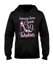 February Queen Over 40 Fabulous Hooded Sweatshirt thumbnail