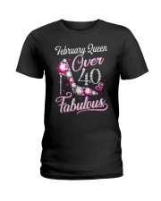 February Queen Over 40 Fabulous Ladies T-Shirt thumbnail