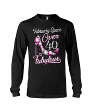 February Queen Over 40 Fabulous Long Sleeve Tee thumbnail