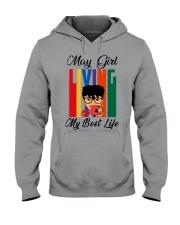 May Girl Living My Best Life Hooded Sweatshirt thumbnail