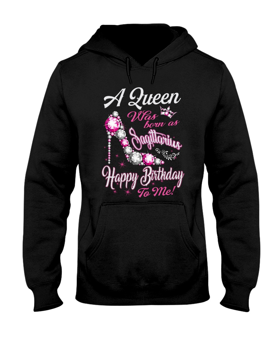 A Queen Was Born As Sagittarius Hooded Sweatshirt