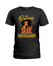 Queens Are Born In December Ladies T-Shirt thumbnail