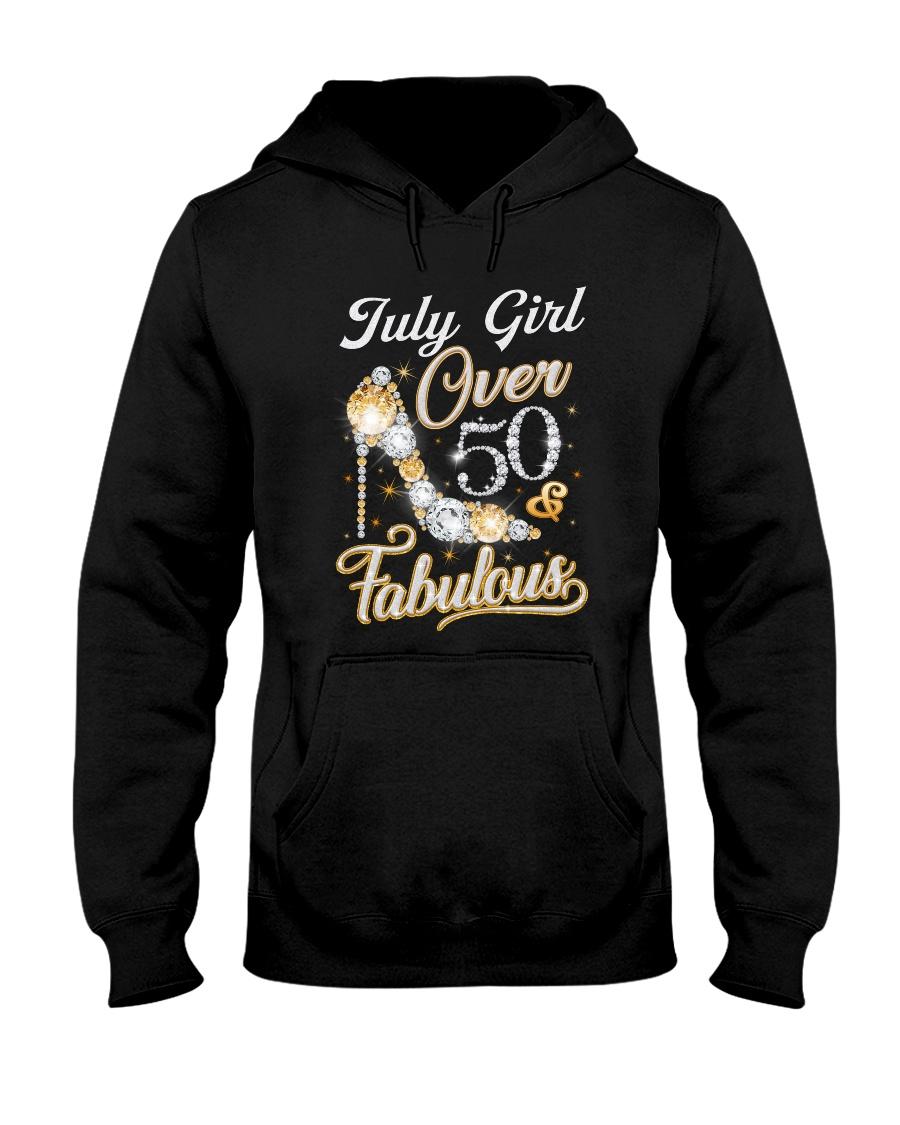 July Girl Fabulous And Over 50 Hooded Sweatshirt