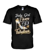 July Girl Fabulous And Over 50 V-Neck T-Shirt thumbnail