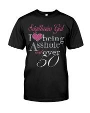 Sagittarius Girl Over 50 Classic T-Shirt front