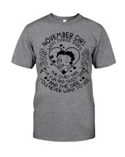 November Girl With Three Sides Classic T-Shirt thumbnail