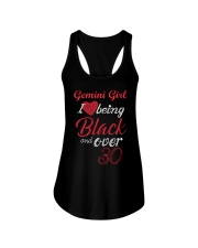 Gemini Girl Black And Over 30 Ladies Flowy Tank thumbnail