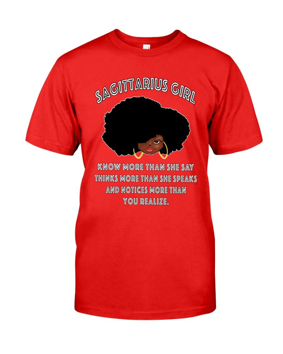 Black Girl Sagittarius Classic T-Shirt