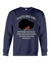 Black Girl Sagittarius Crewneck Sweatshirt thumbnail