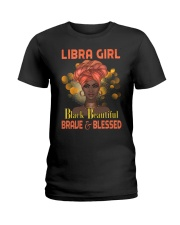 Libra Girl Black Beautiful Brave And Blessed Ladies T-Shirt tile