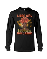 Libra Girl Black Beautiful Brave And Blessed Long Sleeve Tee tile