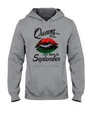 Queens Are Born In September Hooded Sweatshirt thumbnail