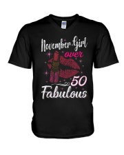 November Girl Fabulous And Over 50 V-Neck T-Shirt thumbnail