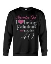 November Girl Fabulous And Over 40 Crewneck Sweatshirt thumbnail