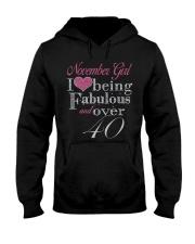 November Girl Fabulous And Over 40 Hooded Sweatshirt thumbnail