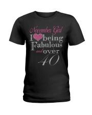 November Girl Fabulous And Over 40 Ladies T-Shirt thumbnail